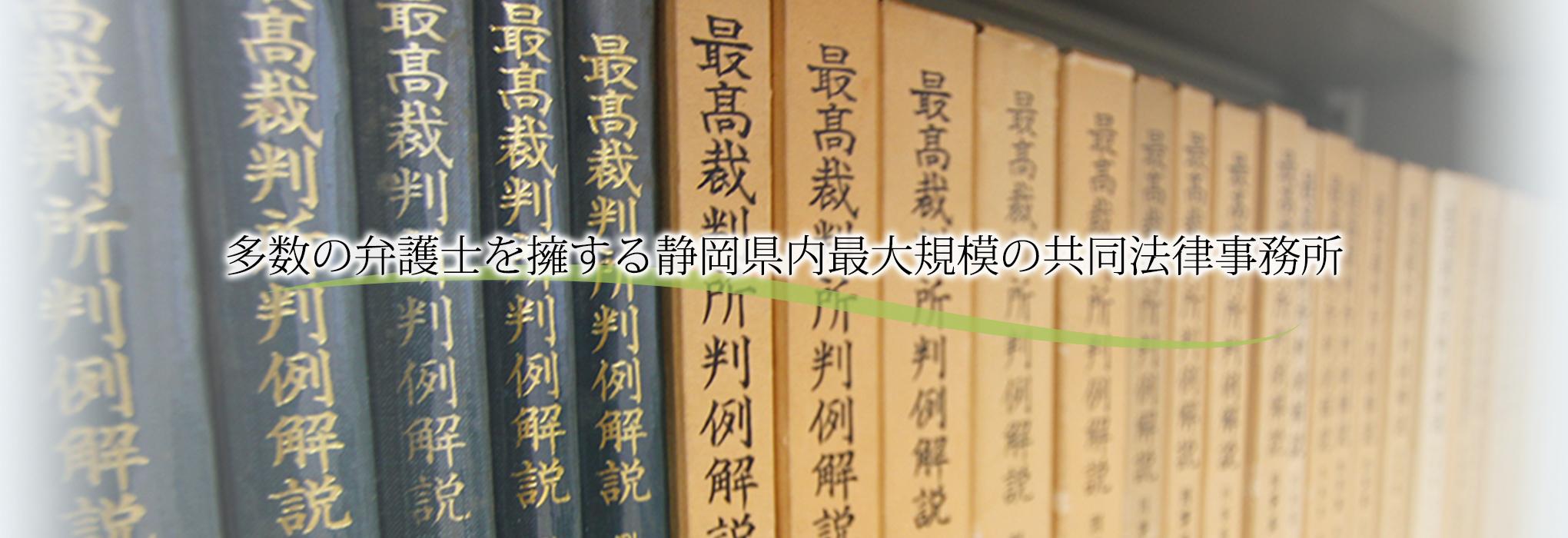 多数の弁護士を要する静岡県内最大規模の共同法律事務所